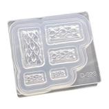 亀島商店 シリコーン型 ソフトモールド C−698 アップルパイ立体型(角)│型取り・成型材料 シリコンゴム