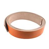 中西 牛オイル革ひも 40mm巾×180cm 茶│レザークラフト用品 革ベルト・ベルト材料