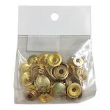 中西 ジャンパーホック #7050 ゴールド 10個入│レザークラフト用品 皮革用金具