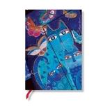 Paperblanks 水面に映る猫と蝶々 MD 罫線