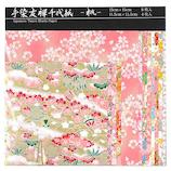 ワールドクラフト 手染友禅千代紙 YZ−C−005 桃│折り紙・和紙工芸 千代紙
