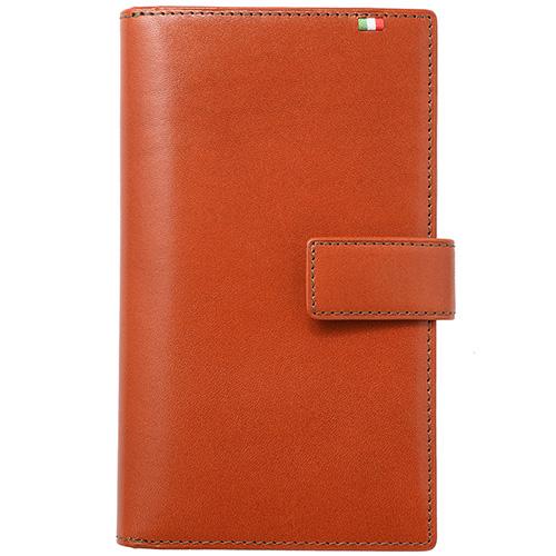 ミラグロ イタリアンレザー・30枚カード収納財布 CA-S-2163 ブラウン