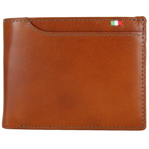 ミラグロ BOX小銭入れ21ポケット二つ折り財布 S−2108 コニャック