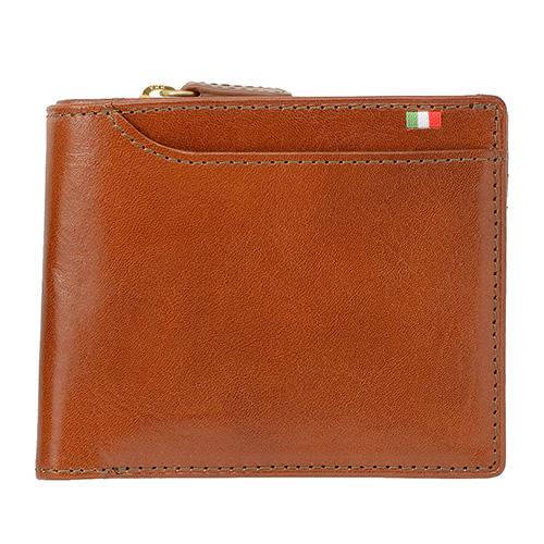ミラグロ イタリアンレザー・23ポケット 二つ折り財布 CA-S-572 ブラウン