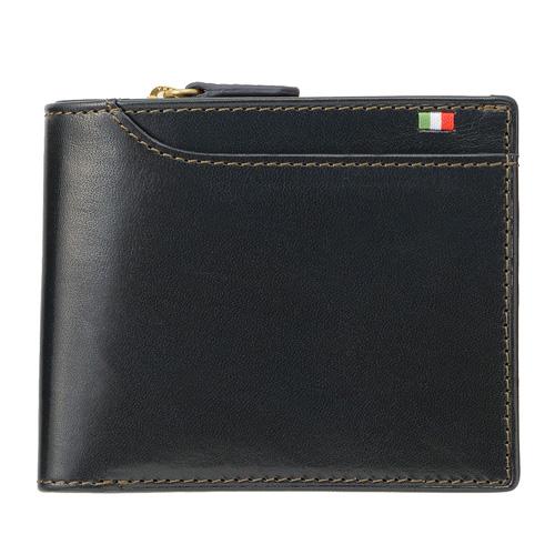 ミラグロ イタリアンレザー・23ポケット 二つ折り財布 CA-S-572 ネイビー