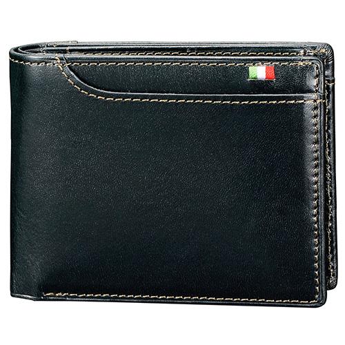 ミラグロ BOX小銭入れ21ポケット二つ折り財布 S−2108 ネイビー