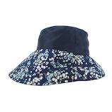 SF 遮熱クールつばリバーシブル帽子 ネイビー×花柄│アウトドアグッズ・小物 その他 アウトドアグッズ・小物