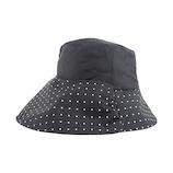 SF 遮熱クールつばリバーシブル帽子 ブラック×ドット