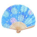 はな日和 アジサイ H6033 紺色│夏物雑貨 扇子・うちわ(団扇)