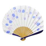 はな日和 扇子 コスモス H6043 ブルー