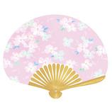 はな日和 扇子 花水木 H6046 ピンク