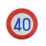 大蔵製作所 トラフィックン 標識板のみ 速度制限40km KS013pl