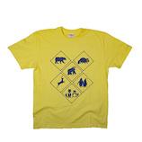 標識デザイン Tシャツ 警戒アニマルアソート トラフィックン XL│下着・インナー