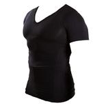 マッスルプロジェクト 加圧インナーシャツ Vネック L ブラック