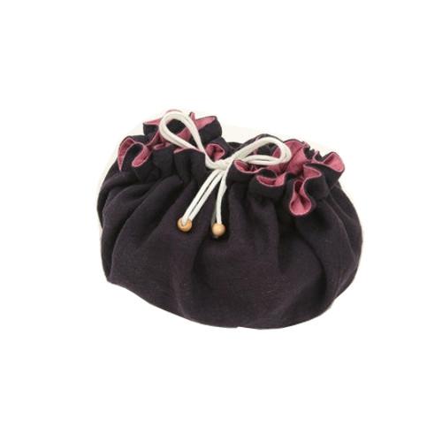 ママのアイディア工房 お弁当袋になっちゃう!!ランチクロス 中紅なかくれない 丸型 紺/ピンク Mサイズ