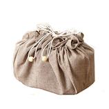 ママのアイディア工房 お弁当袋ランチクロス丸型M RLM-062M 茶│お弁当箱 お弁当袋・ランチベルト