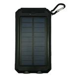 ソーラー充電補助機能付き 携帯充電器 HSB-8800 ブラック
