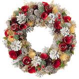 【クリスマス】ホワイエ リース ホワイト コーンズアップルCラメ M 169