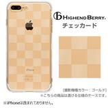 【iPhone7Plus】 Highend Berry ソフトTPUケース ストラップホール付き チェッカード