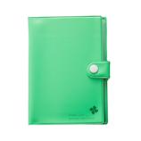 通帳カードシールドケース ブック型 グリーン│旅行用収納グッズ 収納袋・収納グッズ