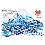いろは出版 世界遺産アートポストカード TPCA−22 富士山と富士川│カード・ポストカード ポストカード(イラスト)