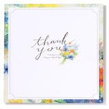 いろは出版 フラワーギャラリー 花を贈る寄せ書き色紙 スクエア GGYS−01 ブルー
