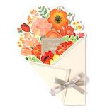 いろは出版 フラワーギャラリー 花を贈る寄せ書き色紙 ブーケ GGYB−01 ビビッド