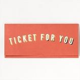 いろは出版 TICKET CARD GTC−02 RED