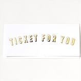 いろは出版 TICKET CARD GTC−04 WHITE│カード・ポストカード グリーティングカード