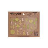 イロド(irodo) 布用ステッカー フォレスト 90017 ゴールド+イエローグリーン