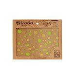イロド(irodo) 布用ステッカー シャワードット 90021 ゴールド+イエローグリーン