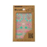 イロド(irodo) ファブリックステッカー バグズ 90061 ピンク/ライムグリーン│手芸・洋裁用品 装飾用品