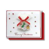 【クリスマス】 リーフワークカンパニー クリスマスミニカード プレゼント ホワイト