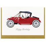 リーフワークカンパニー バースデーカード クラッシックカー赤│カード・ポストカード バースデー・誕生日カード