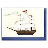 リーフワークカンパニー ハンドメイド バースデーカード 帆船│カード・ポストカード バースデー・誕生日カード