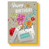 リーフワークカンパニー バースデーカード フラワーボックス 45−003│カード・ポストカード バースデー・誕生日カード