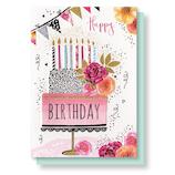 リーフワークカンパニー バースデーカード 45-019 バースデーケーキ│カード・ポストカード バースデー・誕生日カード