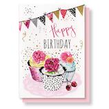 リーフワークカンパニー バースデーカード 45-020 カップケーキ│カード・ポストカード バースデー・誕生日カード