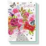 リーフワークカンパニー バースデーカード 45-021 ブーケ│カード・ポストカード バースデー・誕生日カード