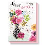 リーフワークカンパニー バースデーカード 45-022 フラワーベース│カード・ポストカード バースデー・誕生日カード