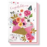 リーフワークカンパニー お祝いカード 封筒&花
