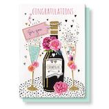 リーフワークカンパニー お祝いカード 45-026 シャンパン