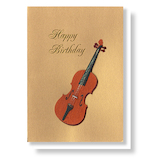 リーフワークカンパニー バースデーカード 42-107 バイオリン│カード・ポストカード バースデー・誕生日カード