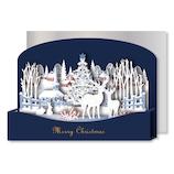 【クリスマス】リーフワークカンパニー クリスマスカード ポップアップ 雪景色