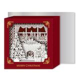 【クリスマス】リーフワークカンパニー クリスマスカード ポップアップBOX 部屋