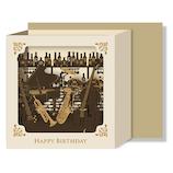 リーフワークカンパニー バースデーカード レーザーカットボックス 楽器 51−054│カード・ポストカード バースデー・誕生日カード