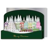 【クリスマス】リーフワークカンパニー クリスマスカード ポップアップ 街並み