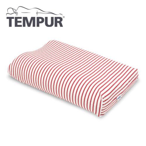 テンピュール スムースピロケース コンフォートピロー用 白×赤