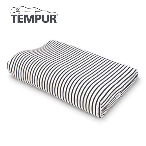 テンピュール スムースピローケース オリジナルネックピロー/ミレニアムネックピローXS~L用  白×紺