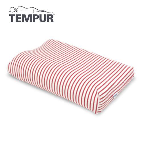 テンピュール スムースピローケース オリジナルネックピロー/ミレニアムネックピローXS~L用  白×赤
